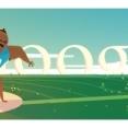 Google celebreaza proba olimpica de aruncare a greutatii printr-un nou logo
