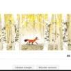 Google marcheaza Ziua Pamantului prin intermediul unor logouri cu diverse animale: o vulpe, o broasca testoasa, un elefant, un urs polar si o caracatita