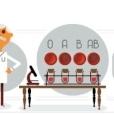 Google il omagiaza cu un doodle pe descoperitorul grupelor de sange Karl Landsteiner, laureat al premiului Nobel