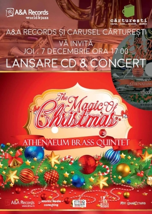 The Magic of Christmas: Concert cu muzici de Craciun cantate impecabil de Athenaem Brass Quintet