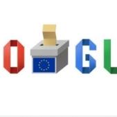 Google marcheaza cu  un doodle special alegerile europarlamentare